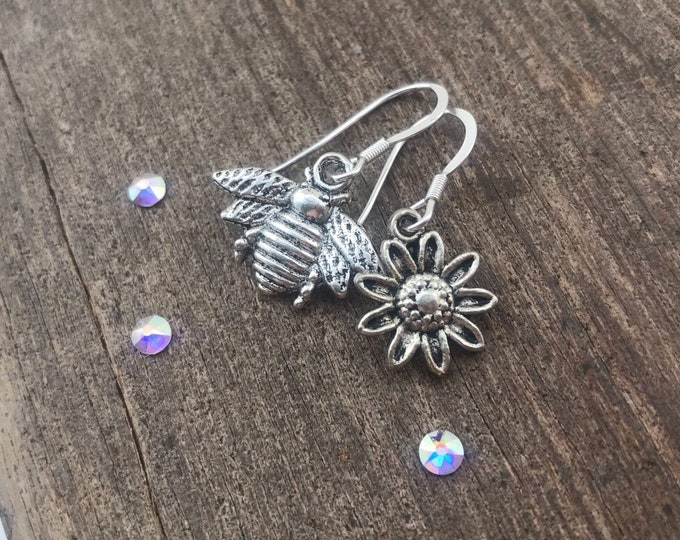 Bee & Flower Earrings