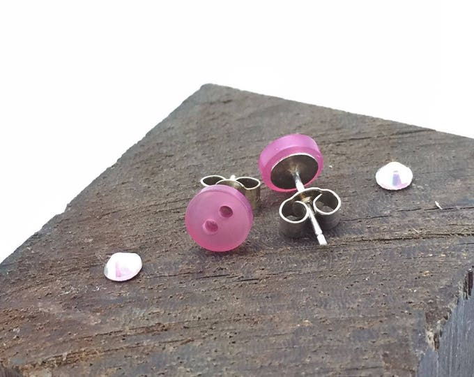 Pink Tiny Stud Earrings