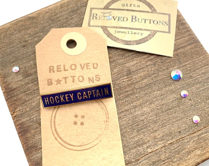 Hockey Captain Vintage Pin