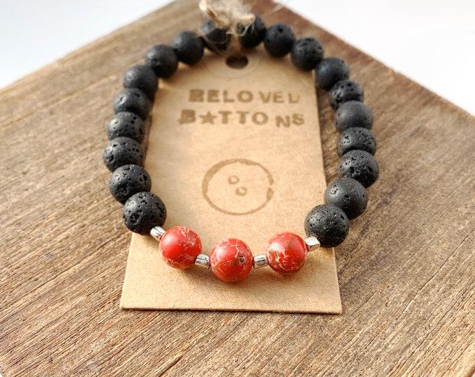 Lava & Jasper Stone Bracelet