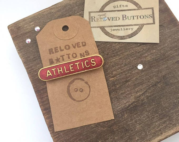 Athletics Vintage Pin - red