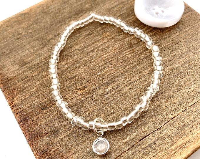 April Birthstone Stretch Bracelet