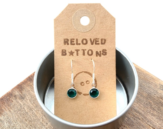 Birthstone Earrings - May Emerald