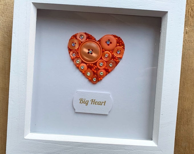 Button Art Heart Frame