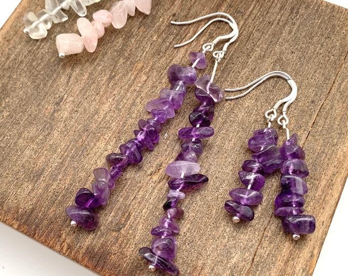 Gemstone Crystal Earrings