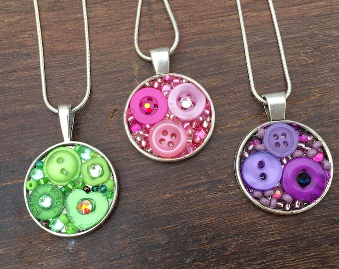 Button Art Pendant