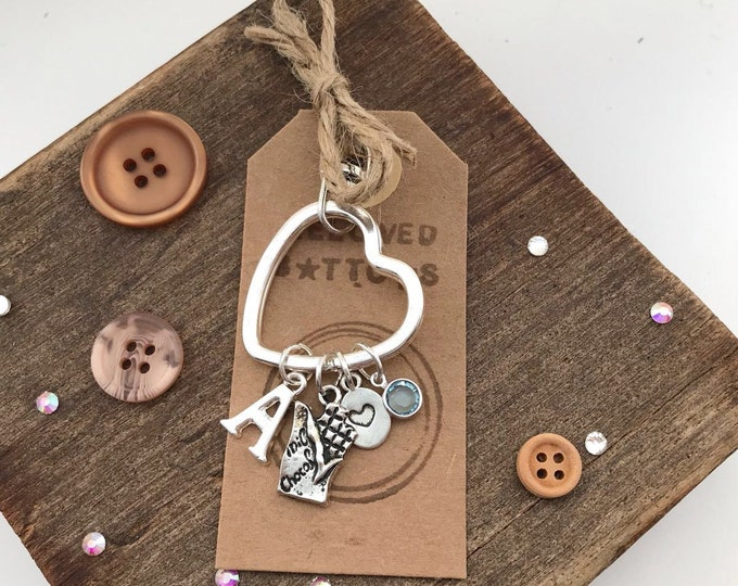 Chocolate gifts, gifts for chocolate lovers, chocolate lover, gifts for foodie, milk gifts, chocolate charm, heart keyring, chocolate bar,