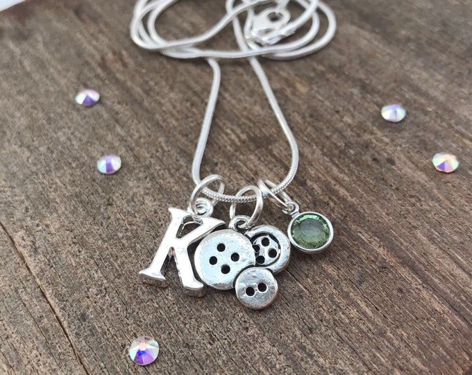 Personalised necklace birthstone, personalised charm necklace,  personalised chain, birthstone necklace silver, charm necklace birthstone,