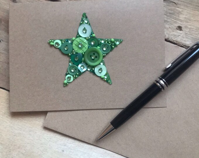 Star Button Art Card