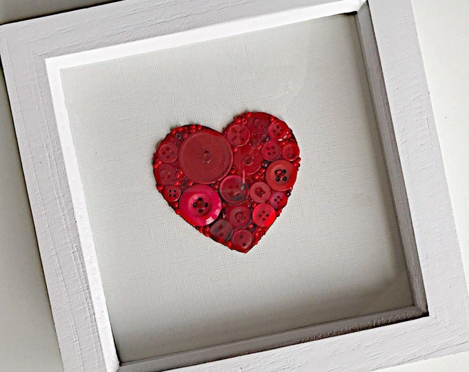 Heart wall art - choose your colour