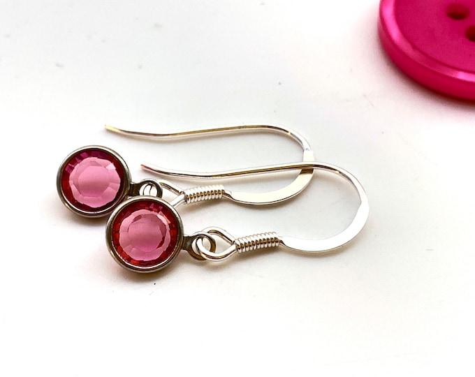 Birthstone earrings - October