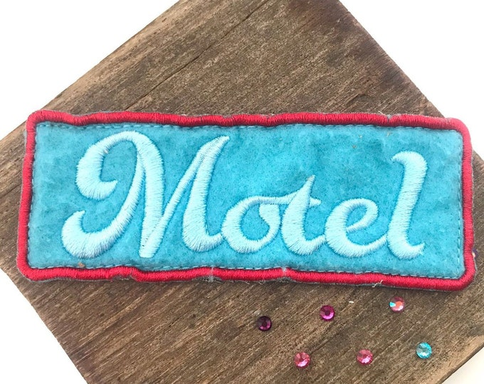 Motel Up-cycled Felt Badge