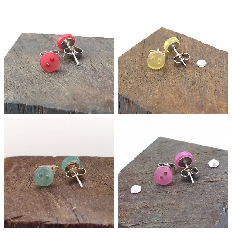 ad379ae63 Tiny stud earrings tiny earrings tiny studs button stud | Etsy