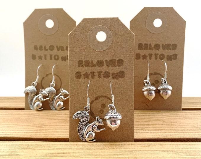 Squirrel & Acorn Earrings