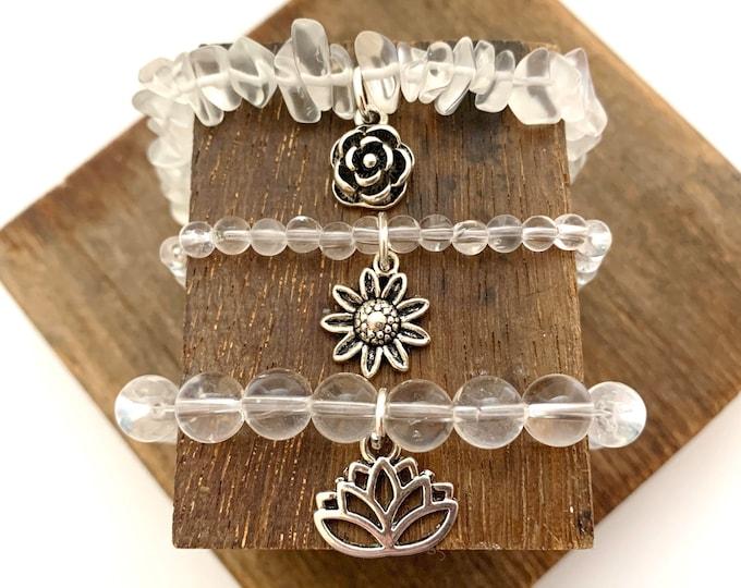 Crystal Quart Bracelet