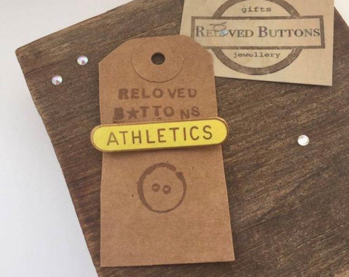 Athletics Vintage Pin - yellow