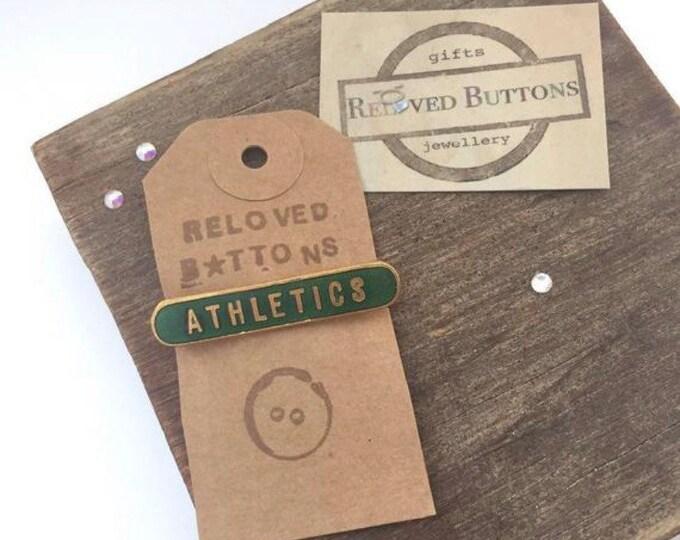 Athletics Vintage Pin - green