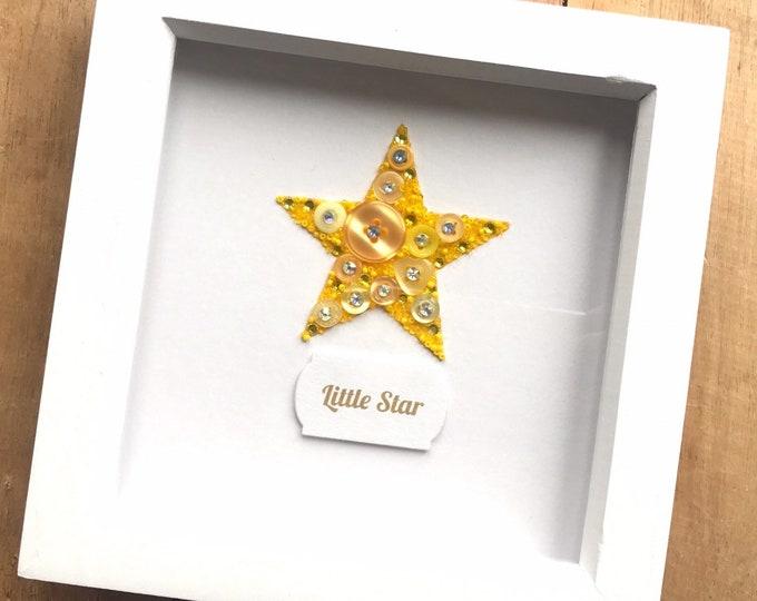 Star Button Art Frame