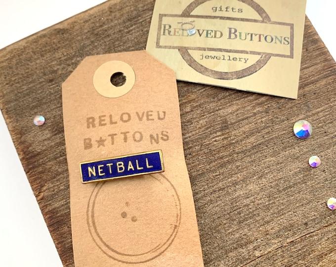 Netball Vintage Pin
