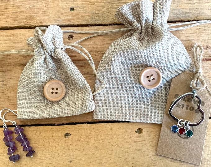 Hessian Gift Bags