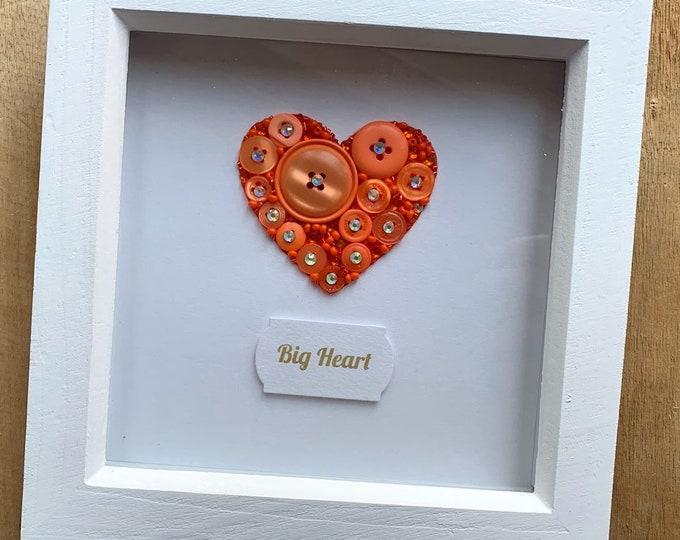 Button Art Heart Frame