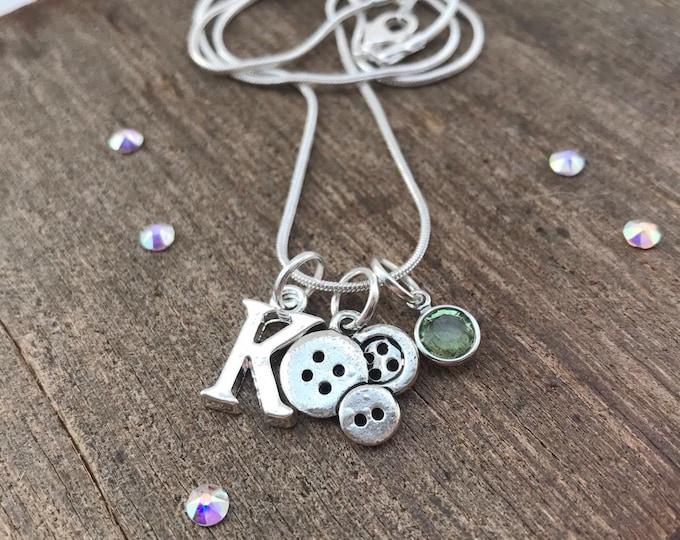 Triple Button Necklace