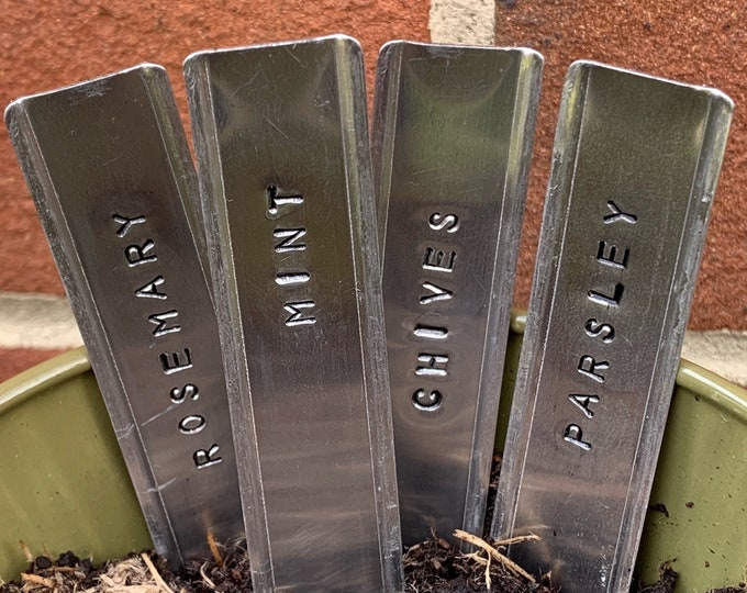 Hand-stamped Herb Markers