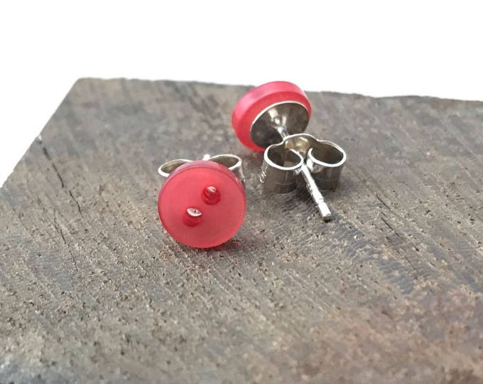 Red Tiny Stud Earrings