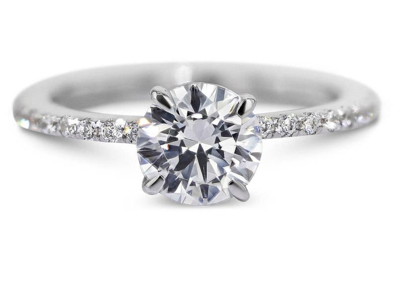 8639e52ea Engagement Ring 1.5 Carat Diamond Ring Round Brilliant Cut | Etsy