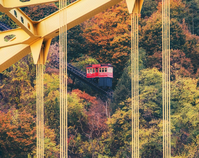 Seasons of the Duquesne Incline in Pittsburgh - Various Prints