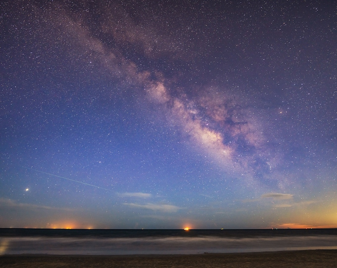 The Milky Way, Saturn, Jupiter and the Perseid Meteor Shower over Hilton Head -  Various Prints