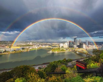 Double Rainbow over Pittsburgh - Various Prints