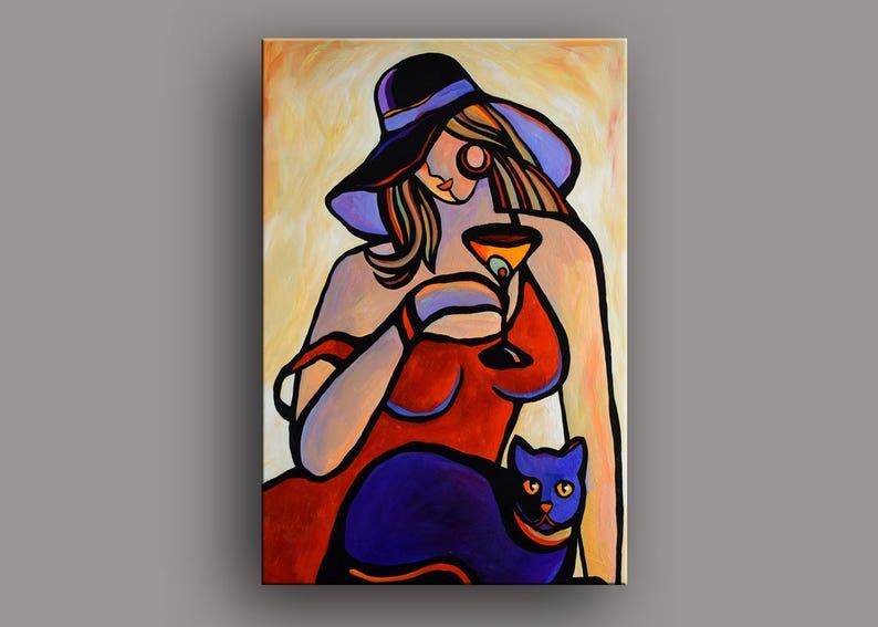 24 W x 36 H peinture acrylique femme nue abstrait | Etsy