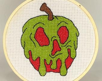 Vintage Apple Label Handmade  Cross Stitch Pattern Chart Needlepoint