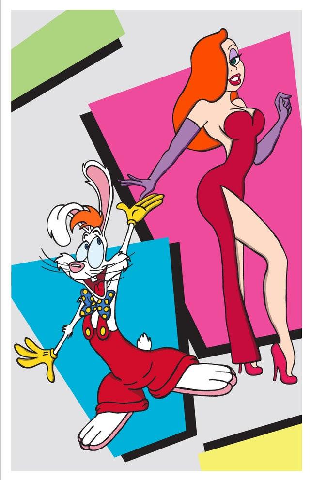Roger Rabbit and Jessica Rabbit Who Framed Roger Rabbit Movie | Etsy