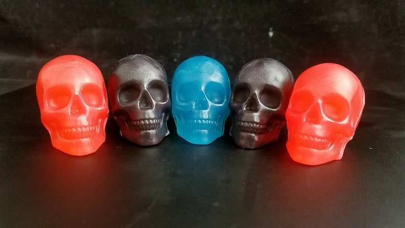 3d skull party favors   75 oz  Glycerin soap  Bulk discount structure   Great Halloween, goth birthday or goth shower favors  Haunted hallows