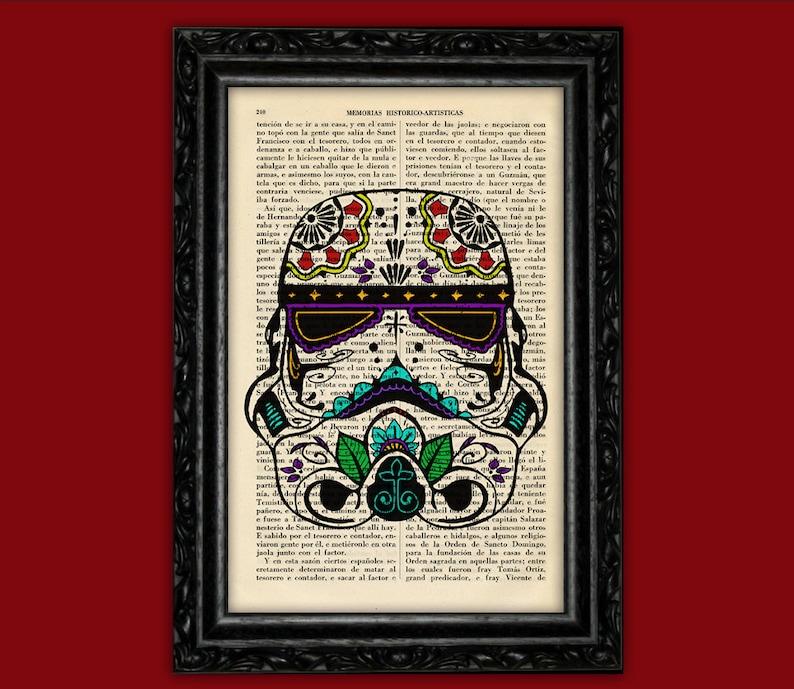 ab03b831 STAR WARS Stormtrooper Sugar Skull Day of the Death Print Book | Etsy