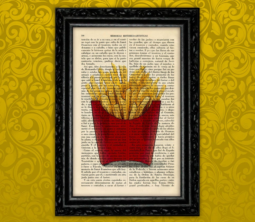 French Fries Art Print Potatoes Fast Food Vintage Kitchen | Etsy