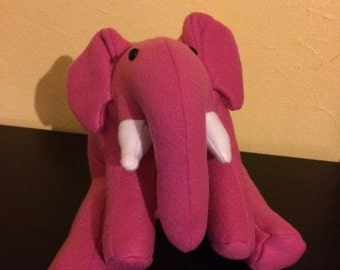 Pink stuffed elephant plushie/nursery decor