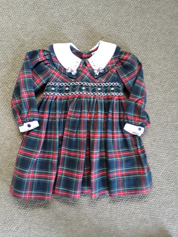 Vintage Carraige Boutiques Girls Dress, Plaid Dres