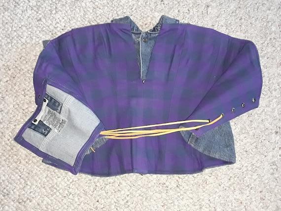 Custome Women's Denim Corset Top, Lace Up Straple… - image 8