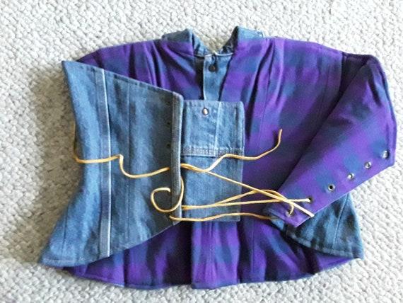 Custome Women's Denim Corset Top, Lace Up Straple… - image 7