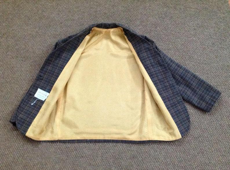 Vintage Boy/'s Blazer 1960s Plaid Sports Jacket Sears Roebuck Retro Cotton Jacket Boys/'