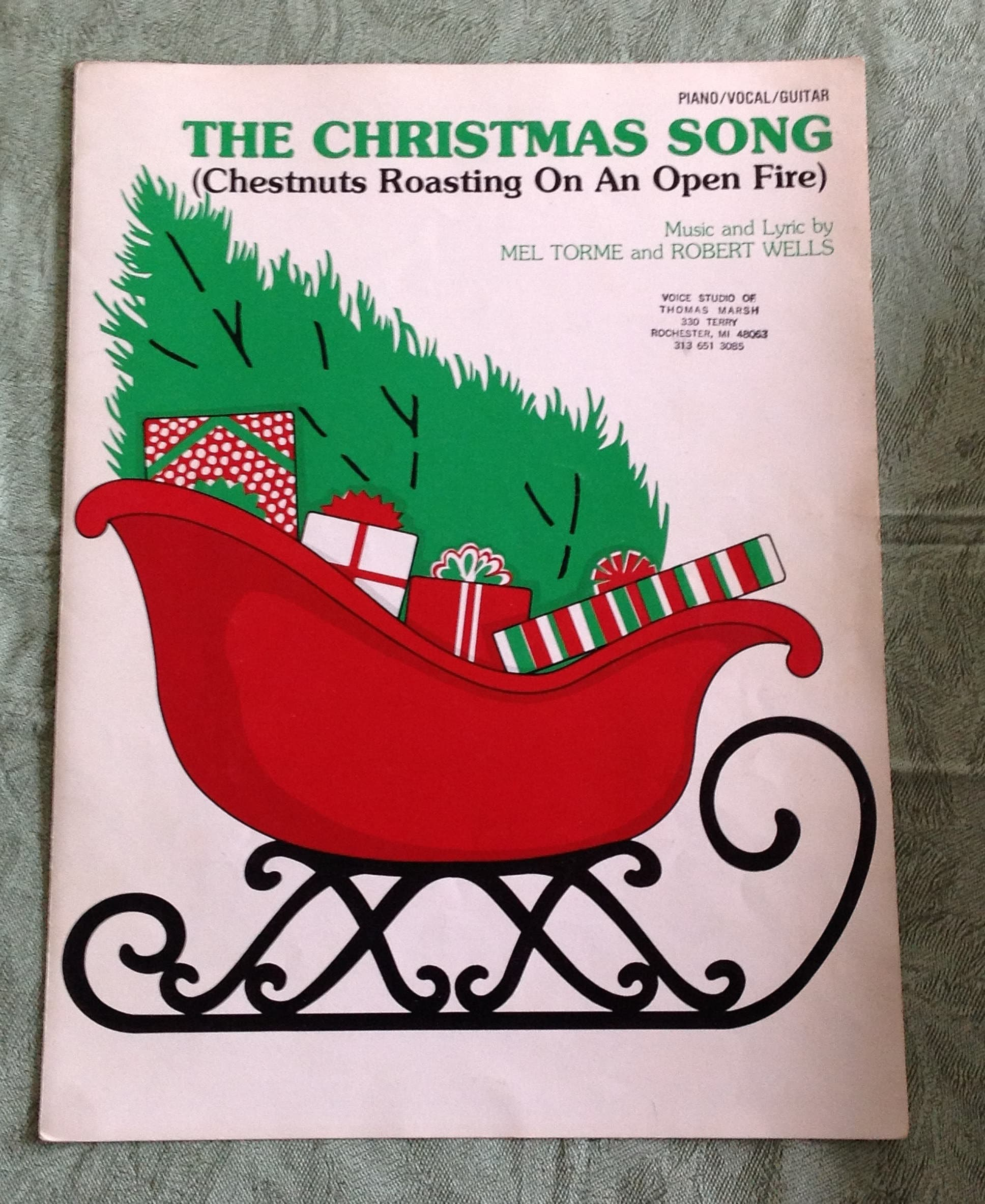 Vintage Christmas Sheet Music The Christmas Song Chestnuts | Etsy