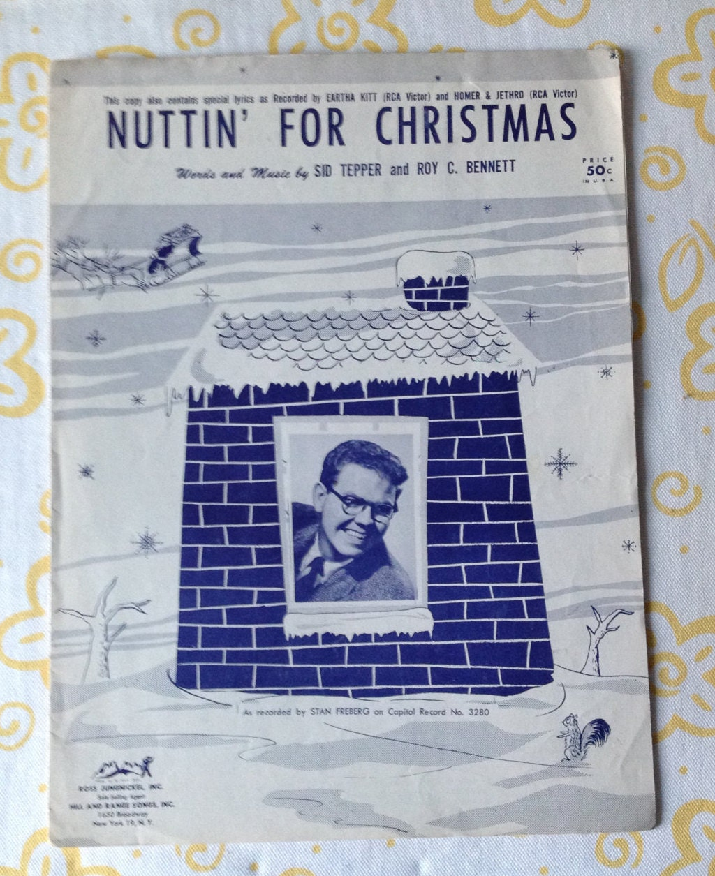 Vintage Nuttin\' For Christmas Sheet Music Speical Lyrics