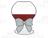 Chubby Wine Glass with Big Bow Cookie Cutter