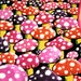 MooMooBISCUITS reviewed Mushrooms UV Black Light Fluorescent & Glow In The Dark Phosphorescent Psychedelic Psy Goa Trance Art Postcard