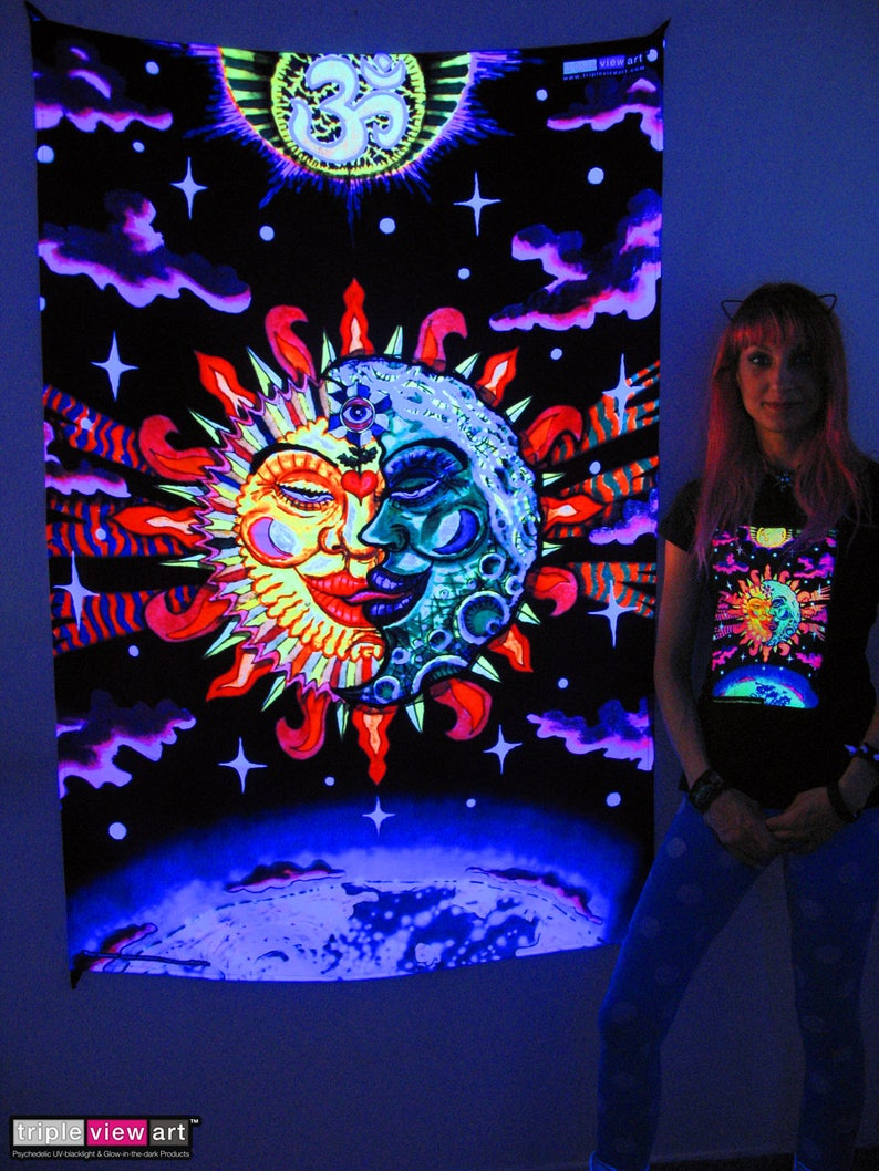 Magic Sunmoon UV Black Light Fluorescent Glow Psychedelic Psy image 0