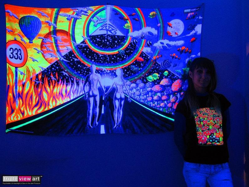 New Horizons UV Black Light Fluorescent Glow Psychedelic Psy image 0