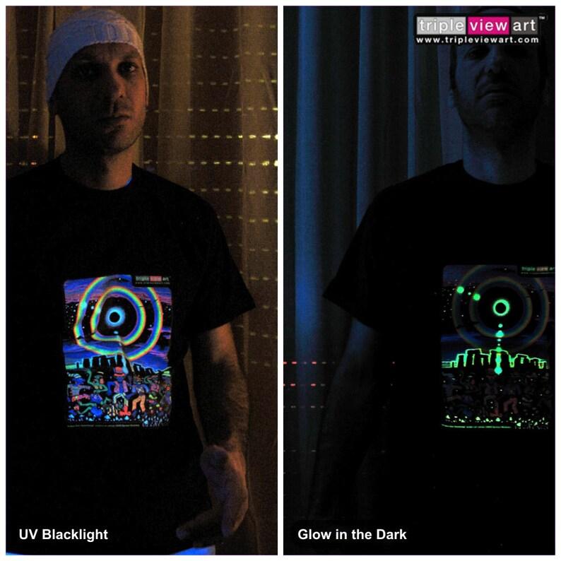 Eclipse Over Stonehenge UV Black Light Fluorescent & Glow In image 0